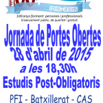 PortadaJormadaPortesObertesPost2015