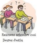 Deures d'estiu. Exàmens de setembre 2016