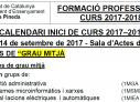 CALENDARI INICI DE CURS 2017-2018