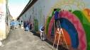 Grafiti al mur del carrer de l'Abat Escarré