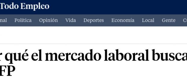 Noticia a La Vanguardia: Por qué el mercado laboral busca titulados en FP