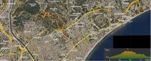 1) La ruta: Institut La Pineda - Sant Jeroni de la Murtra - Ermita de Sant Climent - puig Castellar - Ermita de Sant Climent - Sant Jeroni de la Murtra - Creu de Montigalà - Institut La Pineda.  https://ca.wikiloc.com/rutes-a-peu/la-pineda-puig-castellar-34325143  (La Pineda- Puig Castellar) a Wikiloc