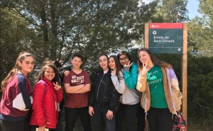 Els alumnes van arribant a Sant Climent
