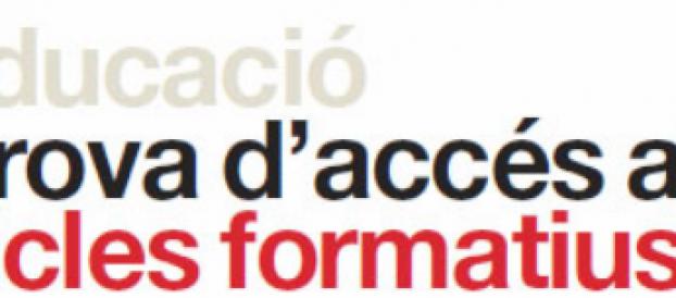PROVES D'ACCÉS ALS CICLES FORMATIUS
