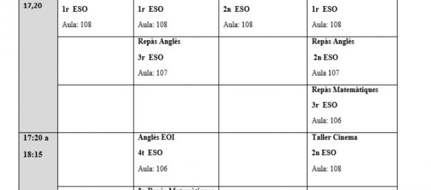 Extraescolars 2020-2021