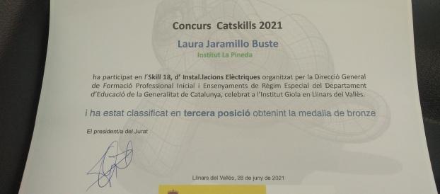 Laura Jaramillo Buste, alumna de grau superior d'electricitat, tercera als Catskills 2021